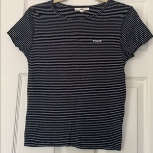 Women's Striped Vans Tee